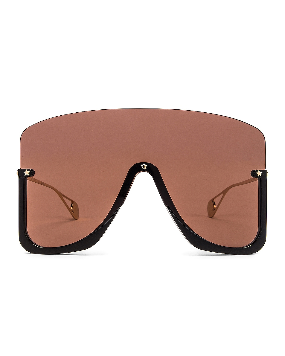 Image 1 of Gucci Shiny Big Sunglasses in Brown