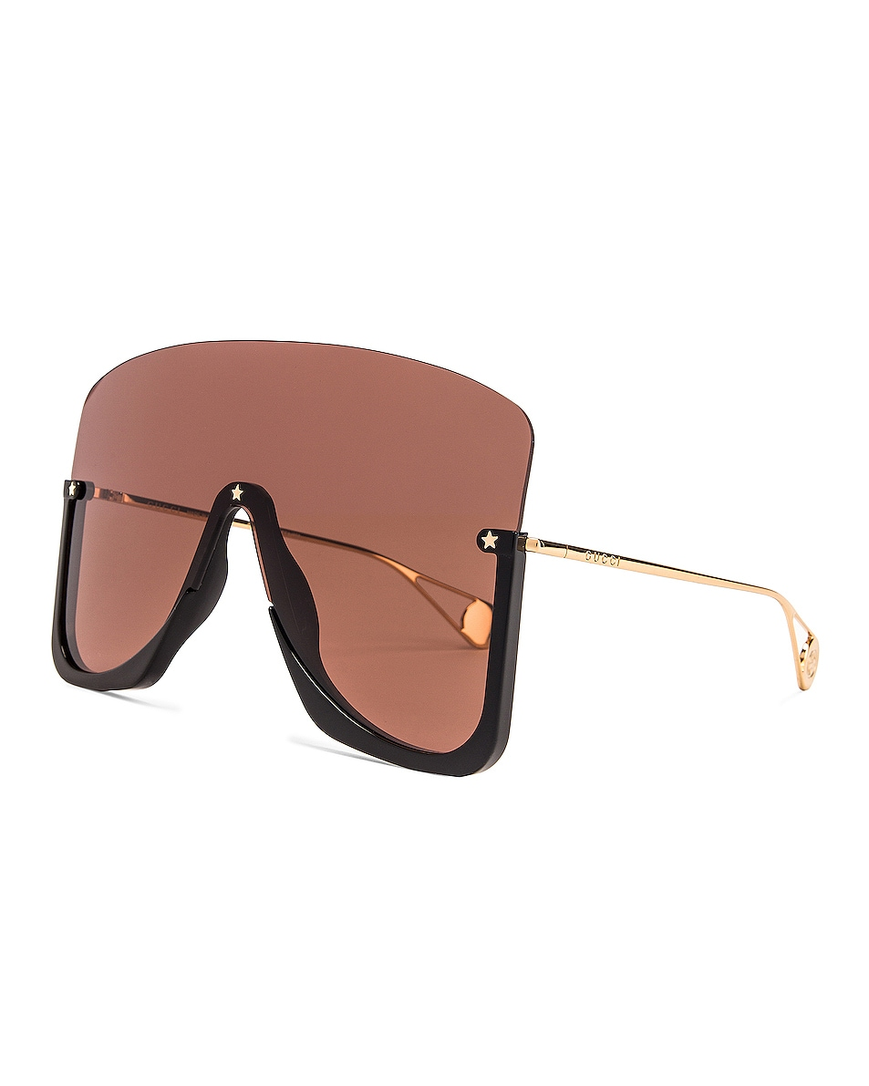 Image 2 of Gucci Shiny Big Sunglasses in Brown