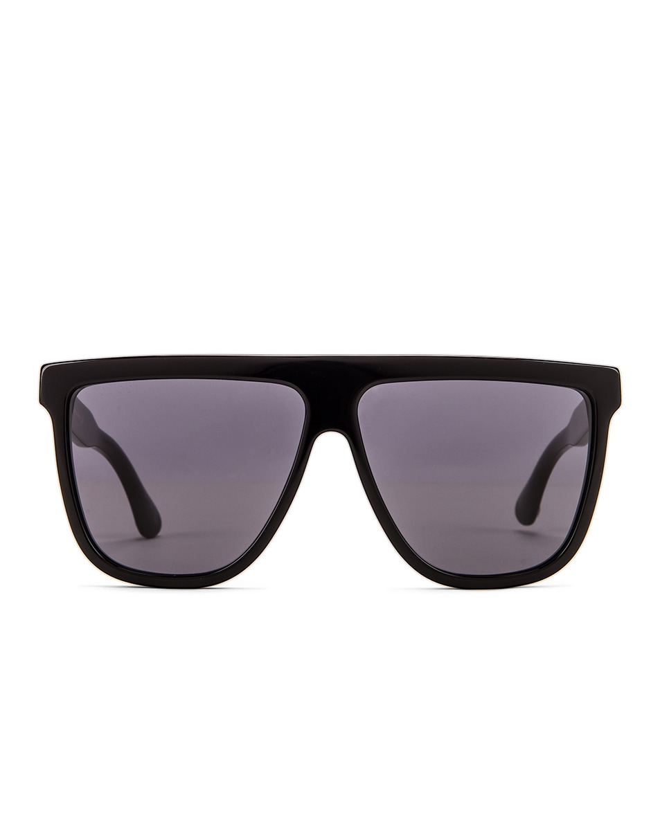 Image 1 of Gucci Flat Top Sunglasses in Black & Grey