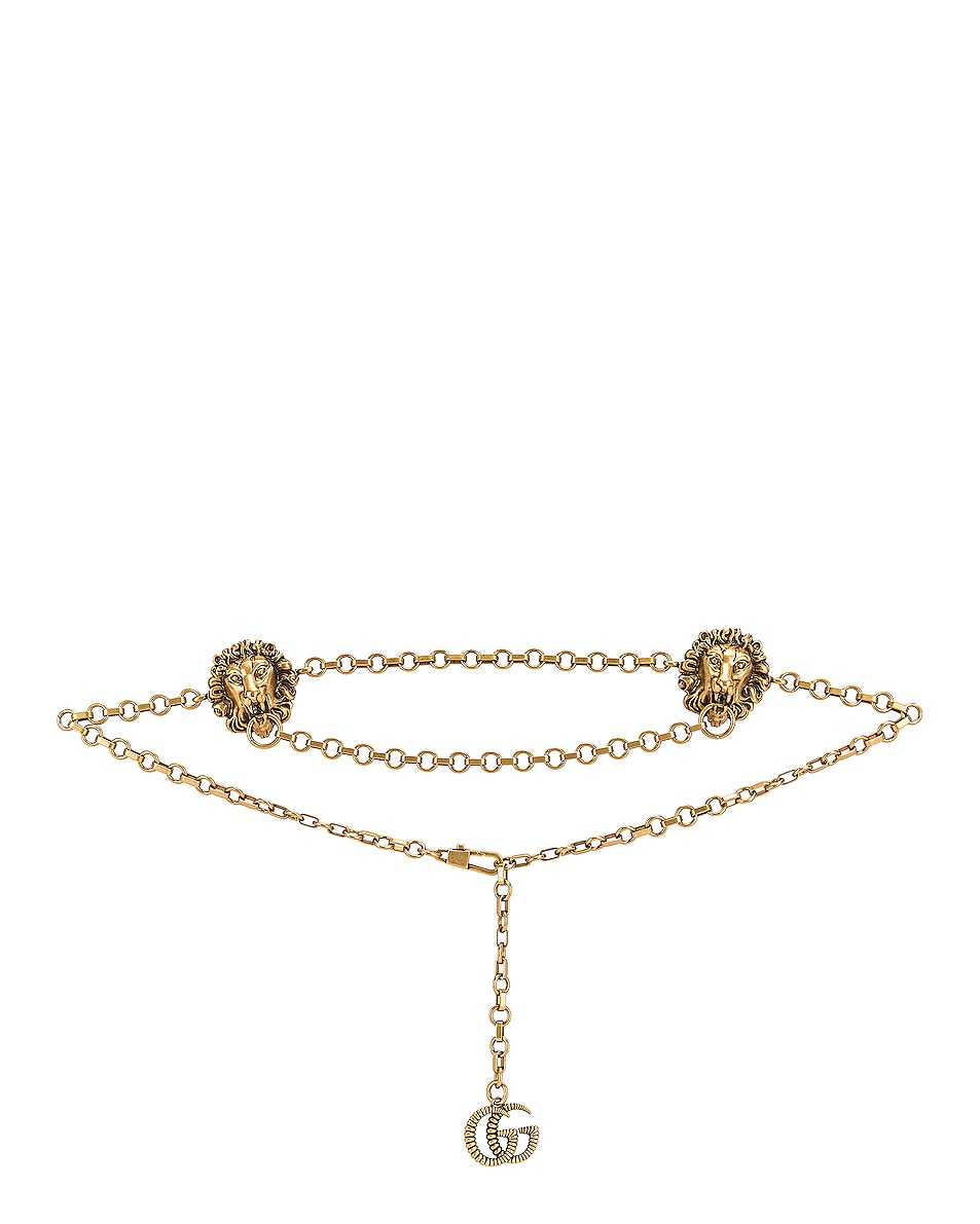 Image 1 of Gucci Chain Belt in Gold