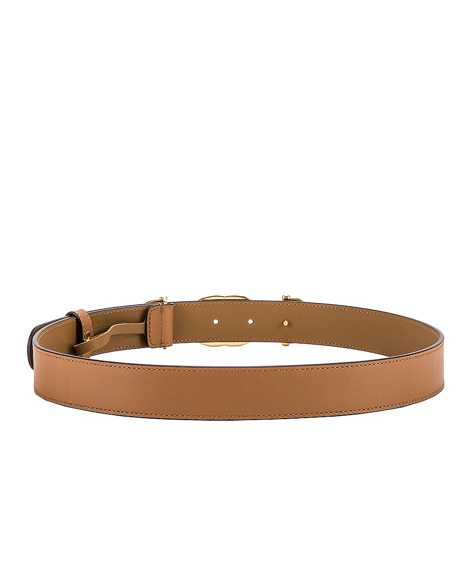 Image 3 of Gucci Zumi Leather Belt in Taupe