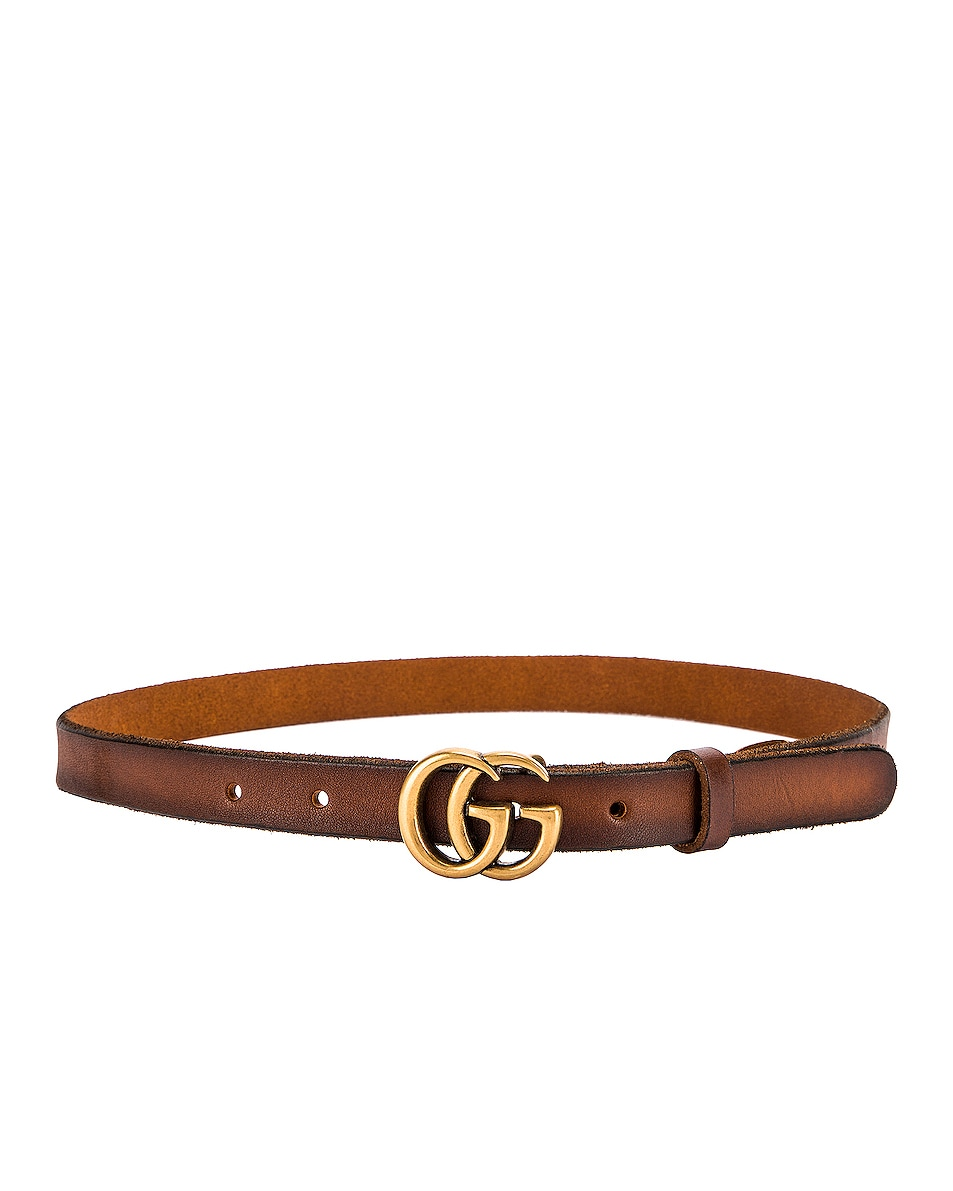 Image 2 of Gucci GG Marmont Leather Belt in Cuoio