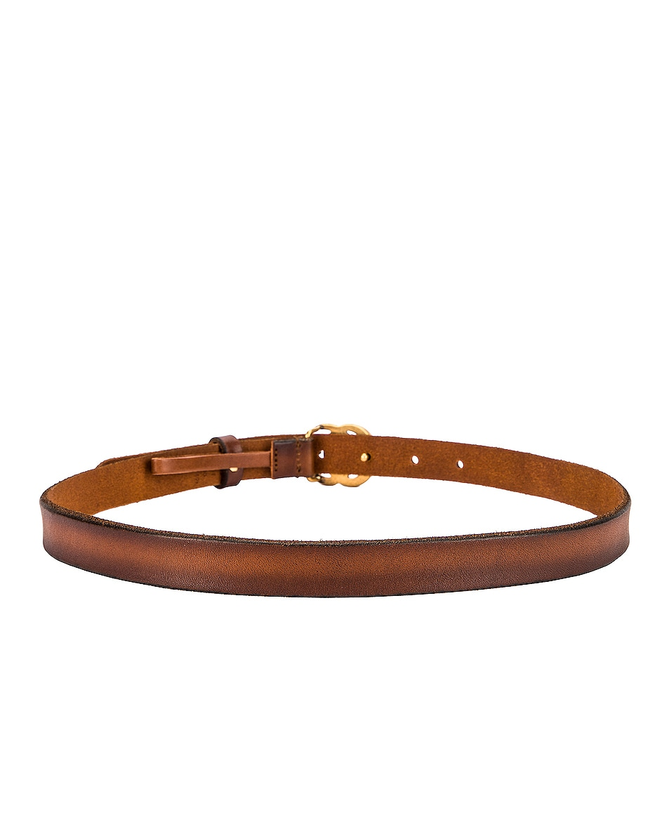 Image 3 of Gucci Leather Double G Buckle Belt in Cuoio