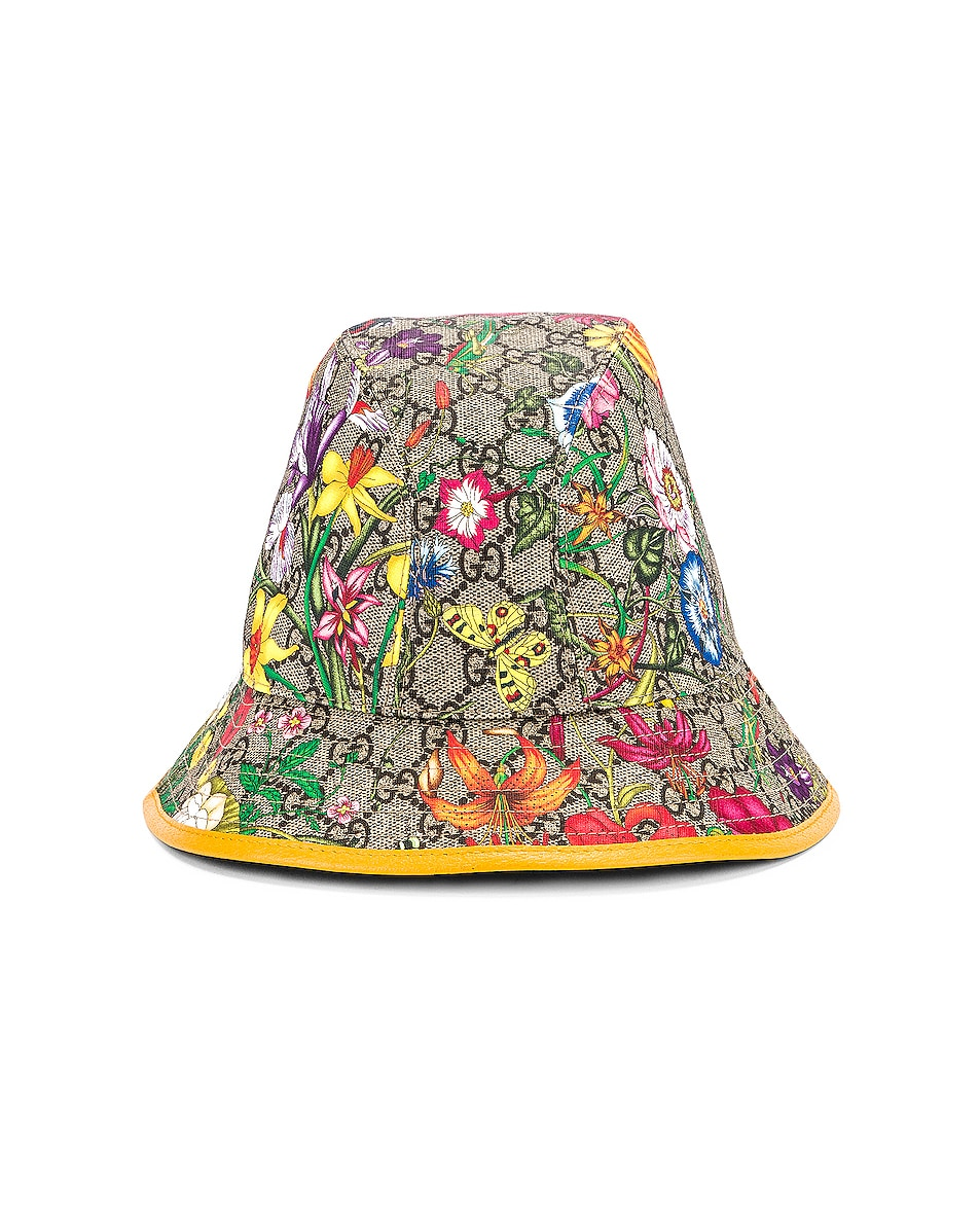 Image 1 of Gucci GG Supreme Flora Bucket Hat in Multicolor