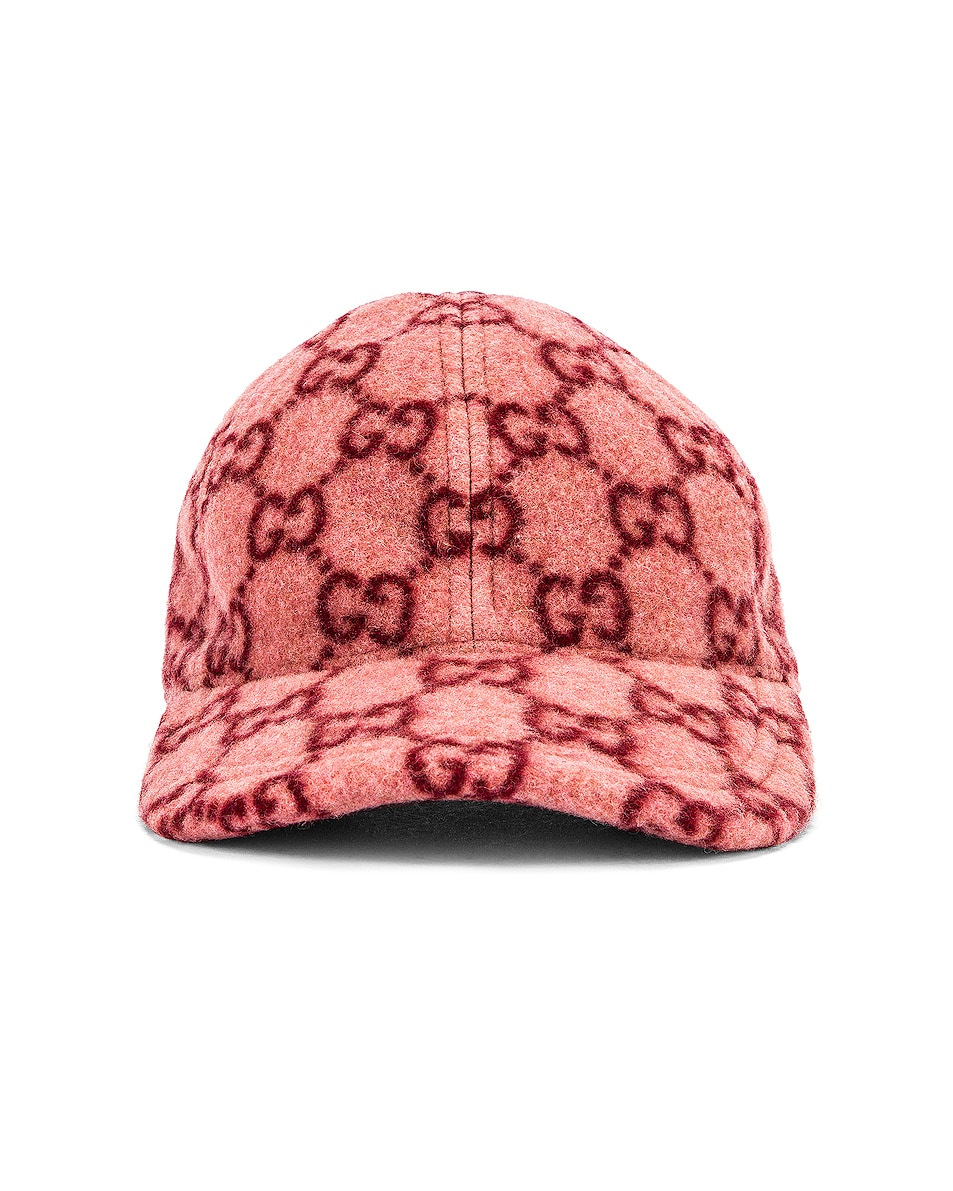 Image 1 of Gucci GG Baseball Hat in Roseate & Red