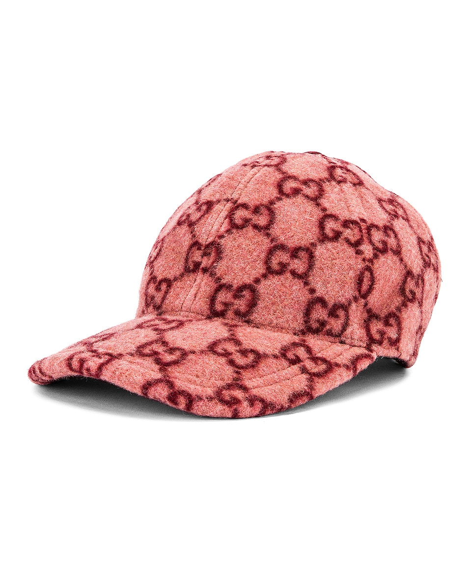 Image 2 of Gucci GG Baseball Hat in Roseate & Red
