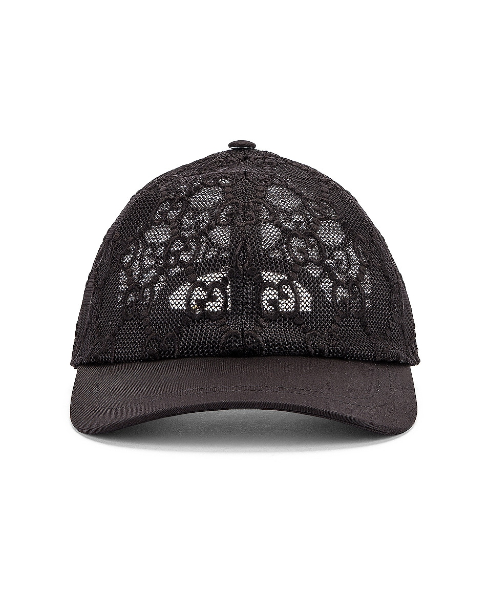 Image 1 of Gucci Baseball Hat in Black