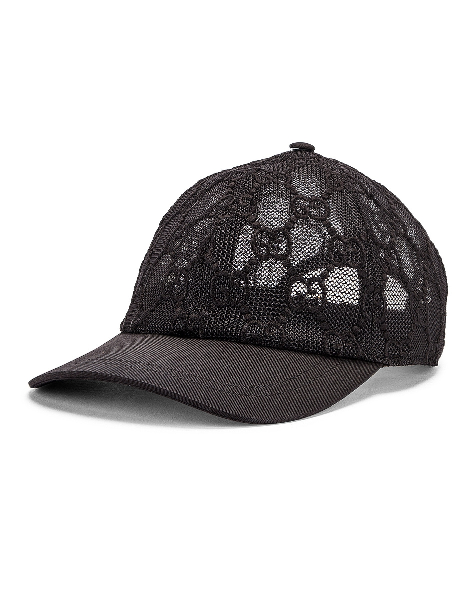 Image 2 of Gucci Baseball Hat in Black