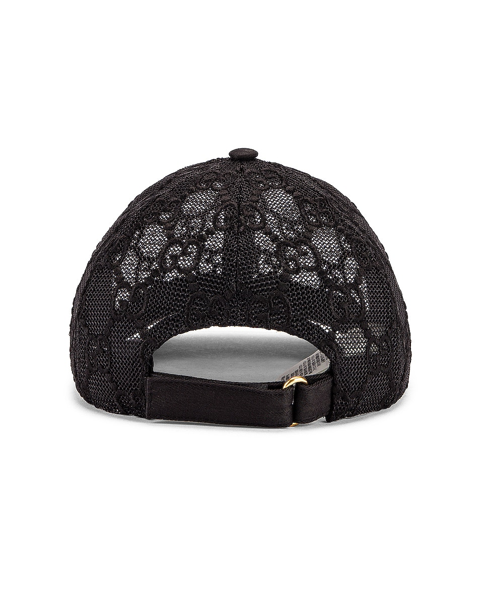 Image 4 of Gucci Baseball Hat in Black