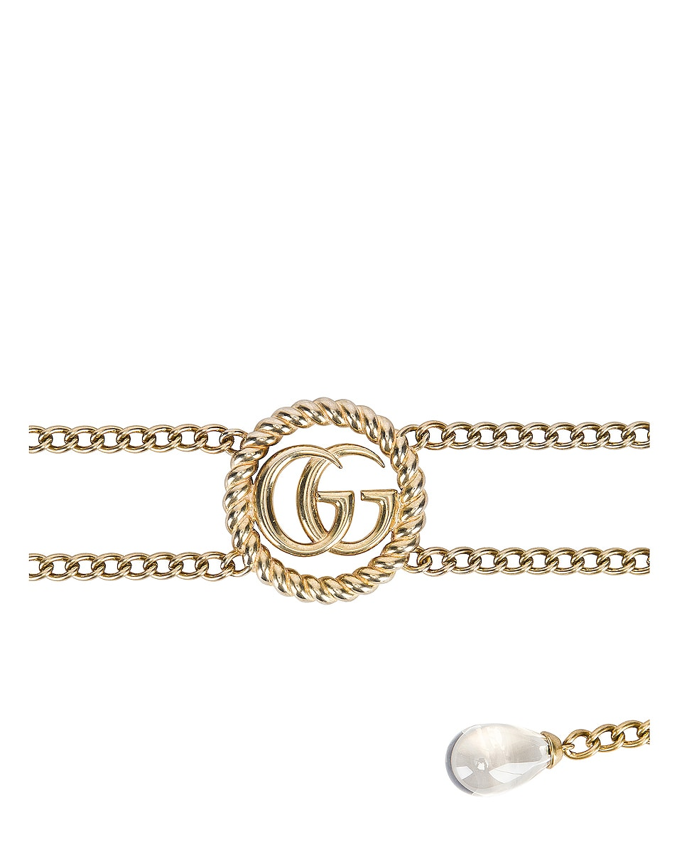 Image 2 of Gucci Chain Belt in Gold & Crystal