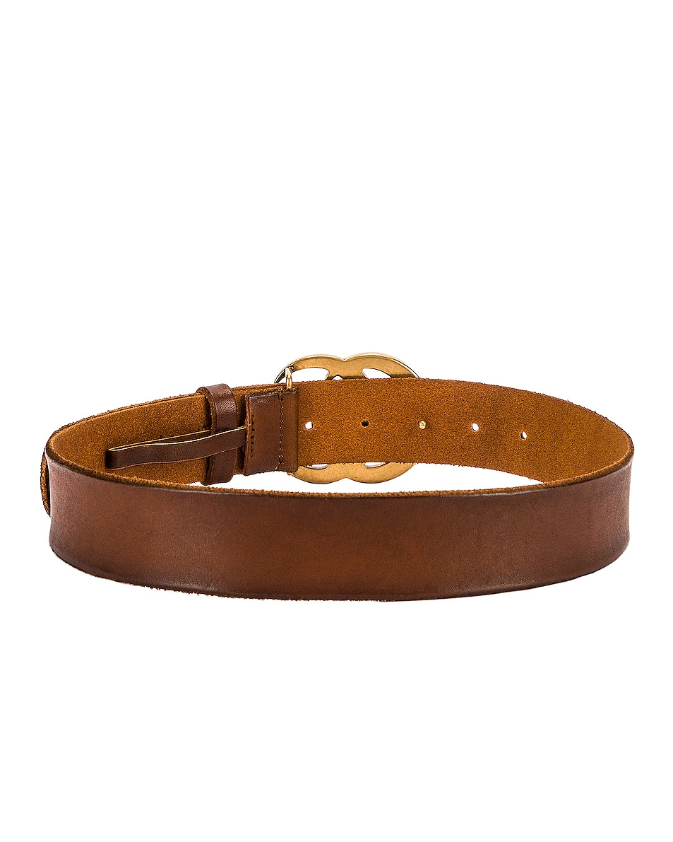 Image 3 of Gucci GG Leather Belt in Brown