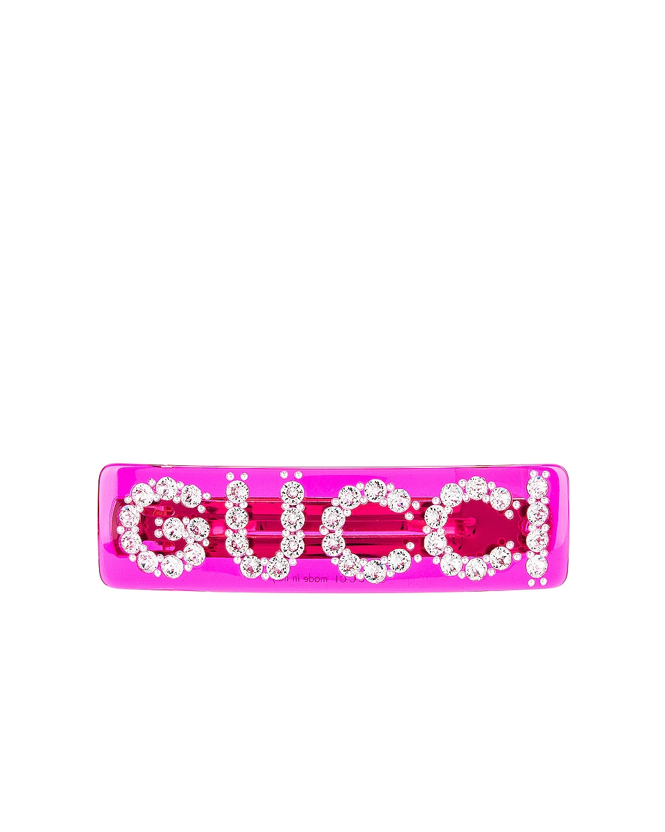 Image 1 of Gucci GG Hair Clip in Red
