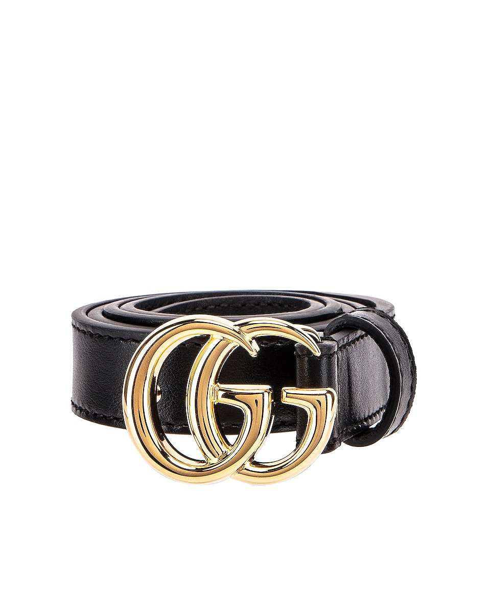 Image 1 of Gucci GG Marmont Belt in Black
