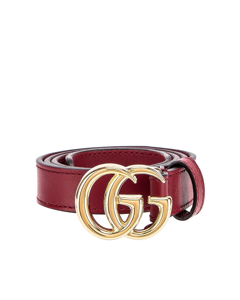 Image 1 of Gucci GG Marmont Belt in New Cherry Red