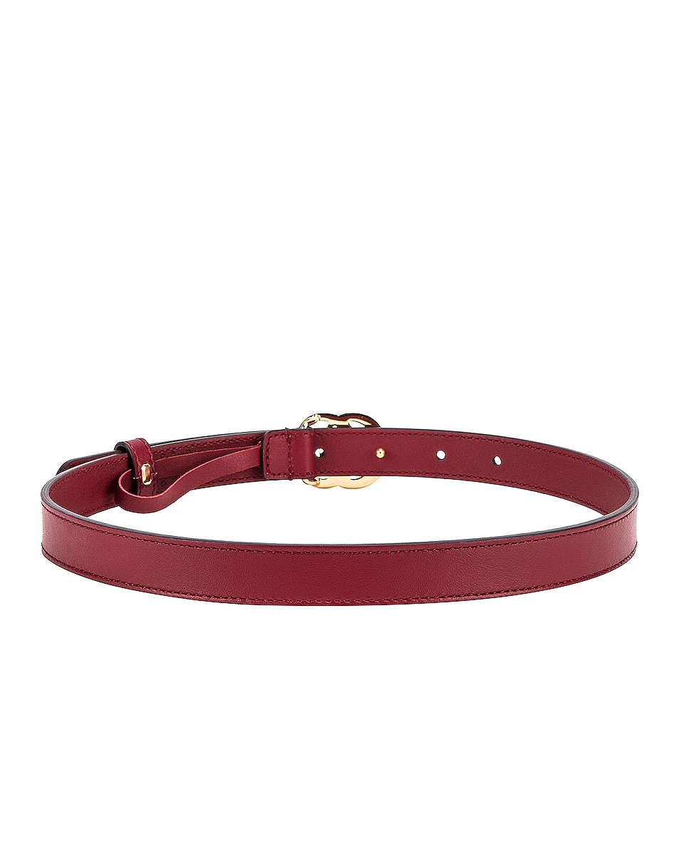 Image 3 of Gucci GG Marmont Belt in New Cherry Red