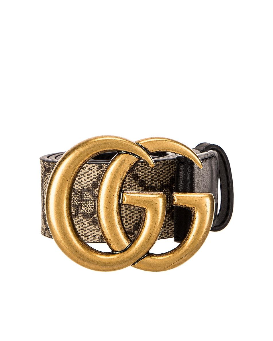 Image 1 of Gucci GG Belt in Black