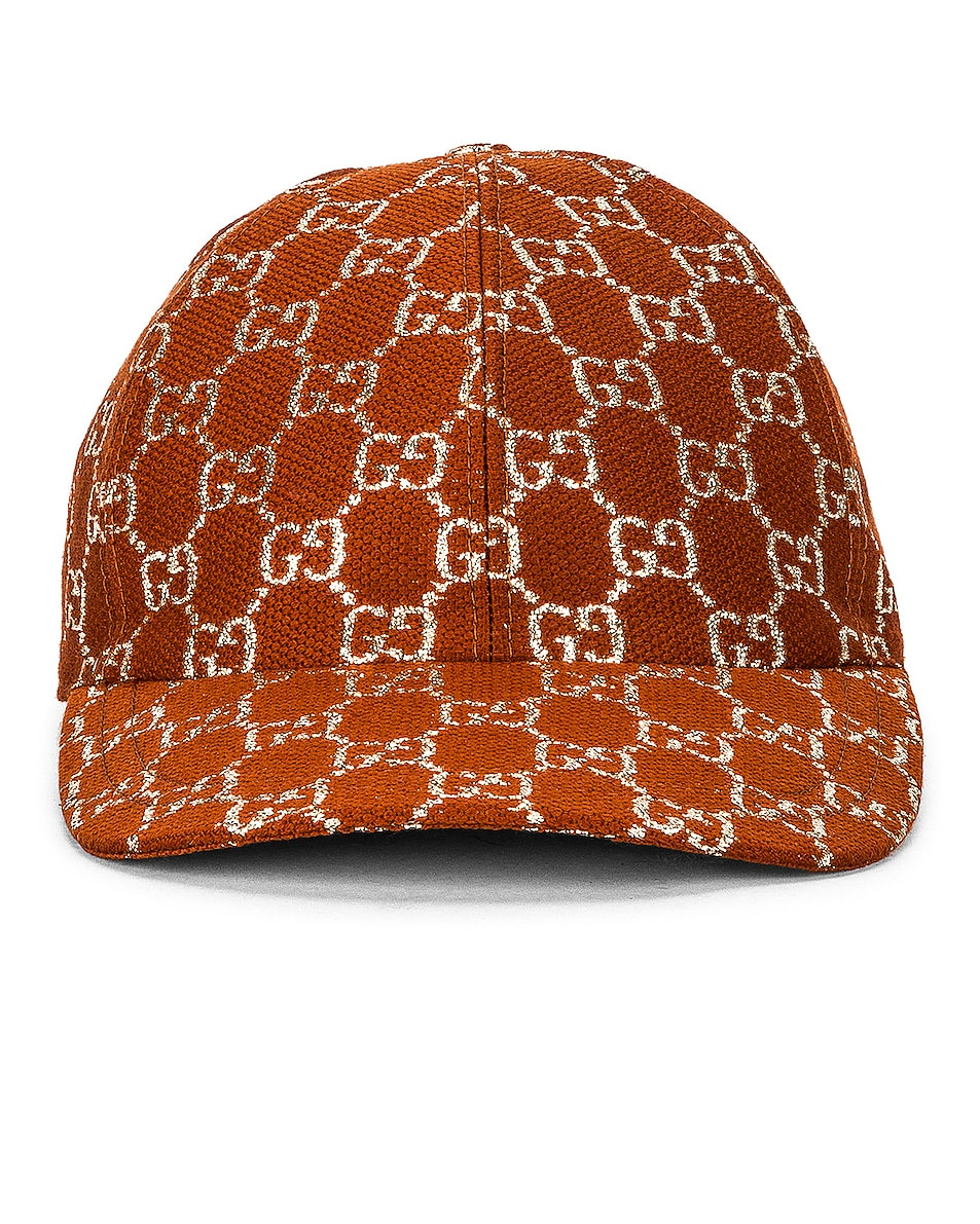 Image 1 of Gucci GG Baseball Hat in Brown & Black