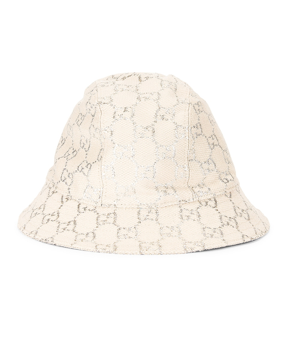 Image 1 of Gucci GG Bucket Hat in White