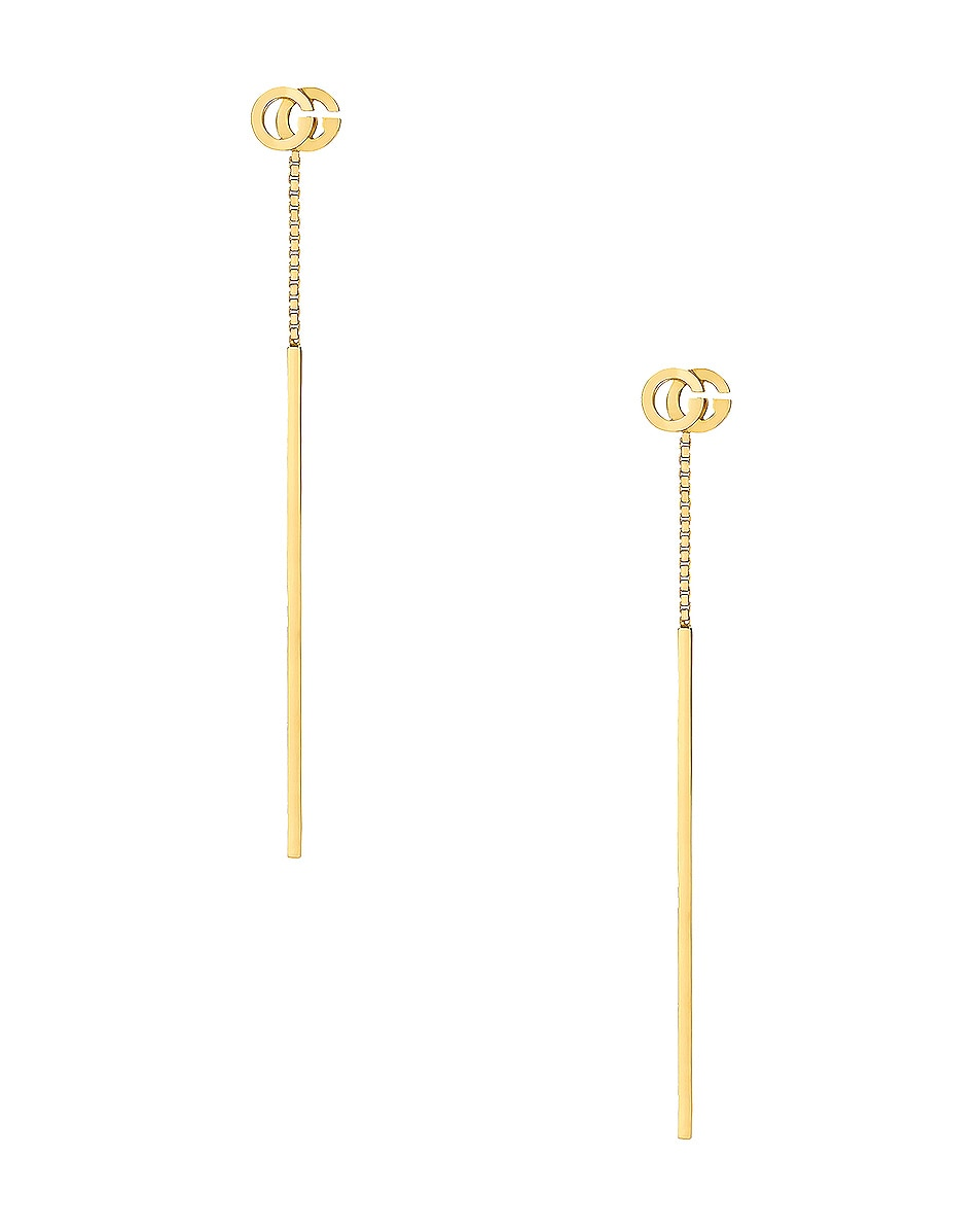 Image 1 of Gucci GG Running Pendant Earrings in 18KT Yellow Gold
