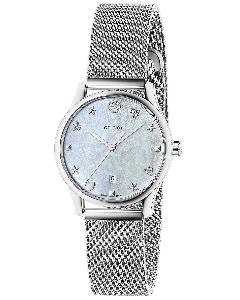 Image 1 of Gucci 29MM G-Timeless Mesh Band Watch in Steel