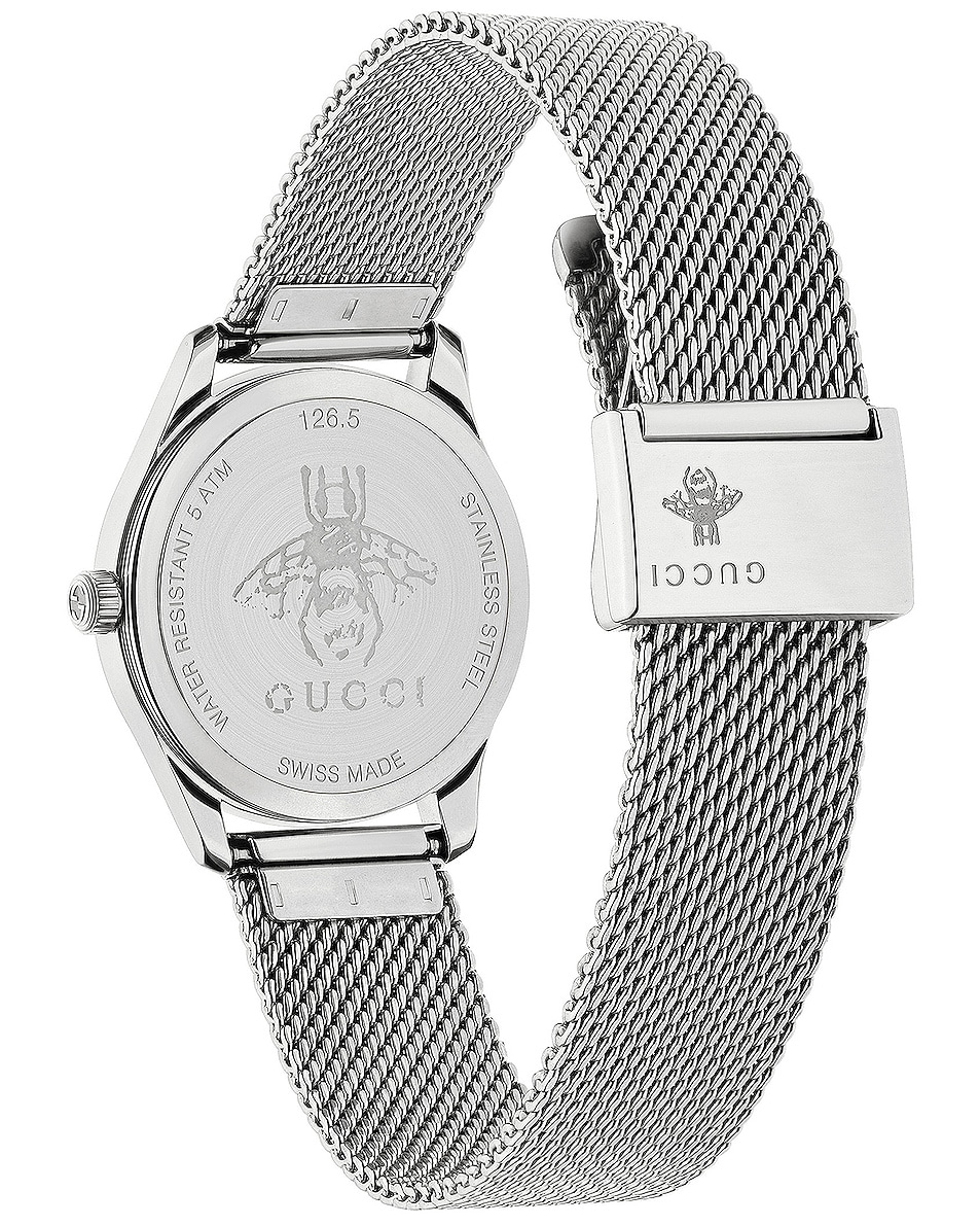 Image 2 of Gucci 29MM G-Timeless Mesh Band Watch in Steel