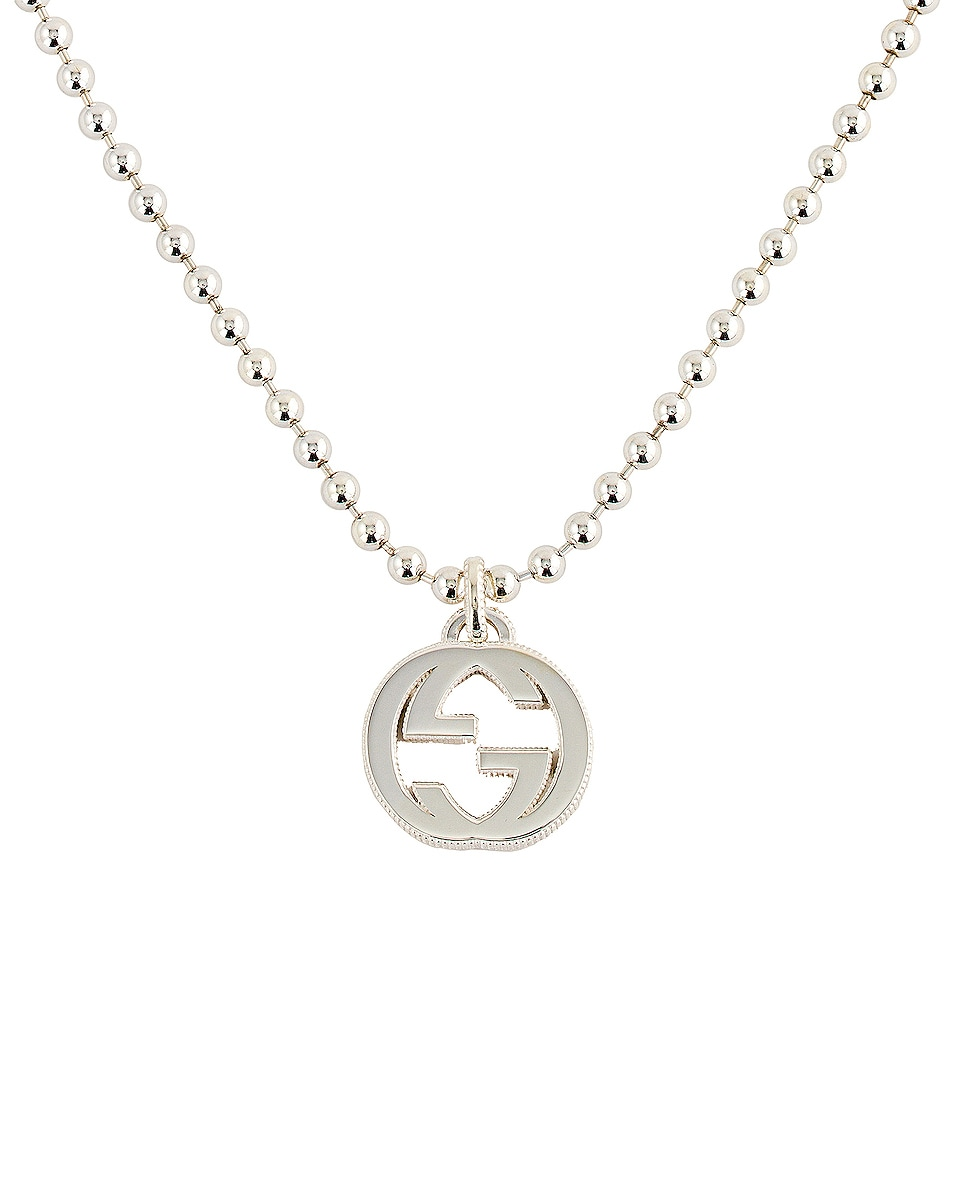 Image 1 of Gucci Interlocking Necklace in Silver