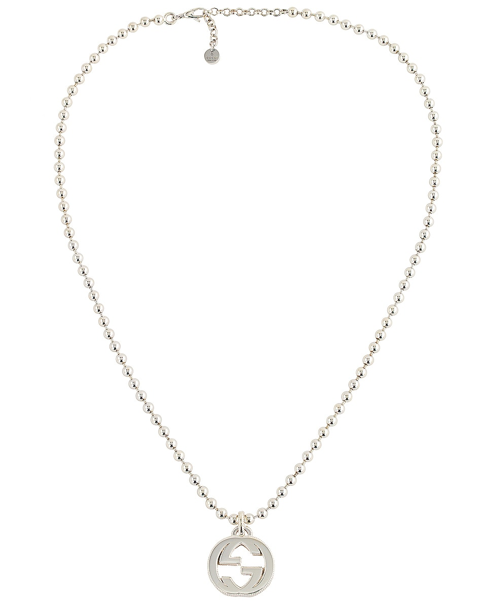Image 3 of Gucci Interlocking Necklace in Silver
