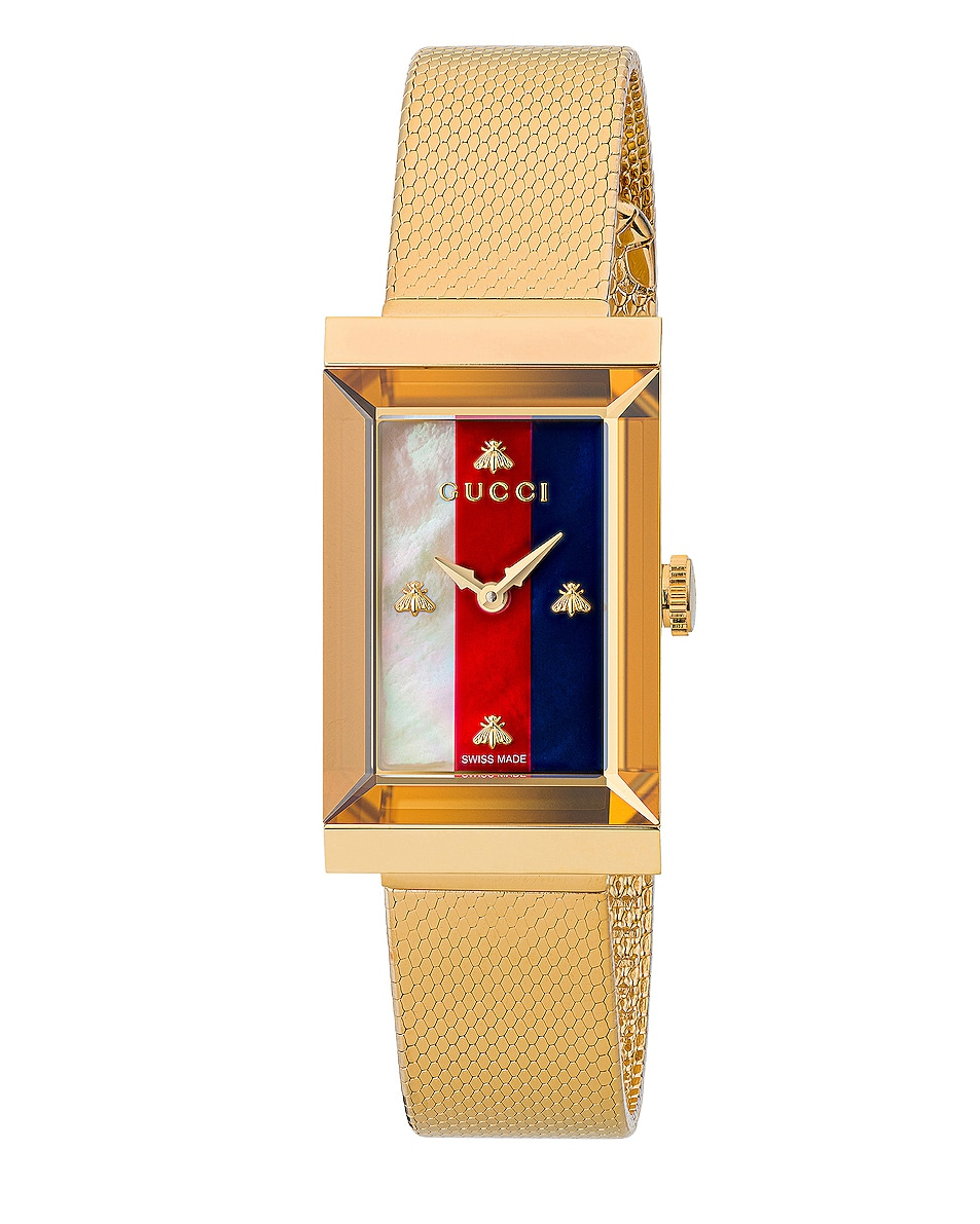 Image 1 of Gucci Mesh Bracelet Watch in Yellow Gold