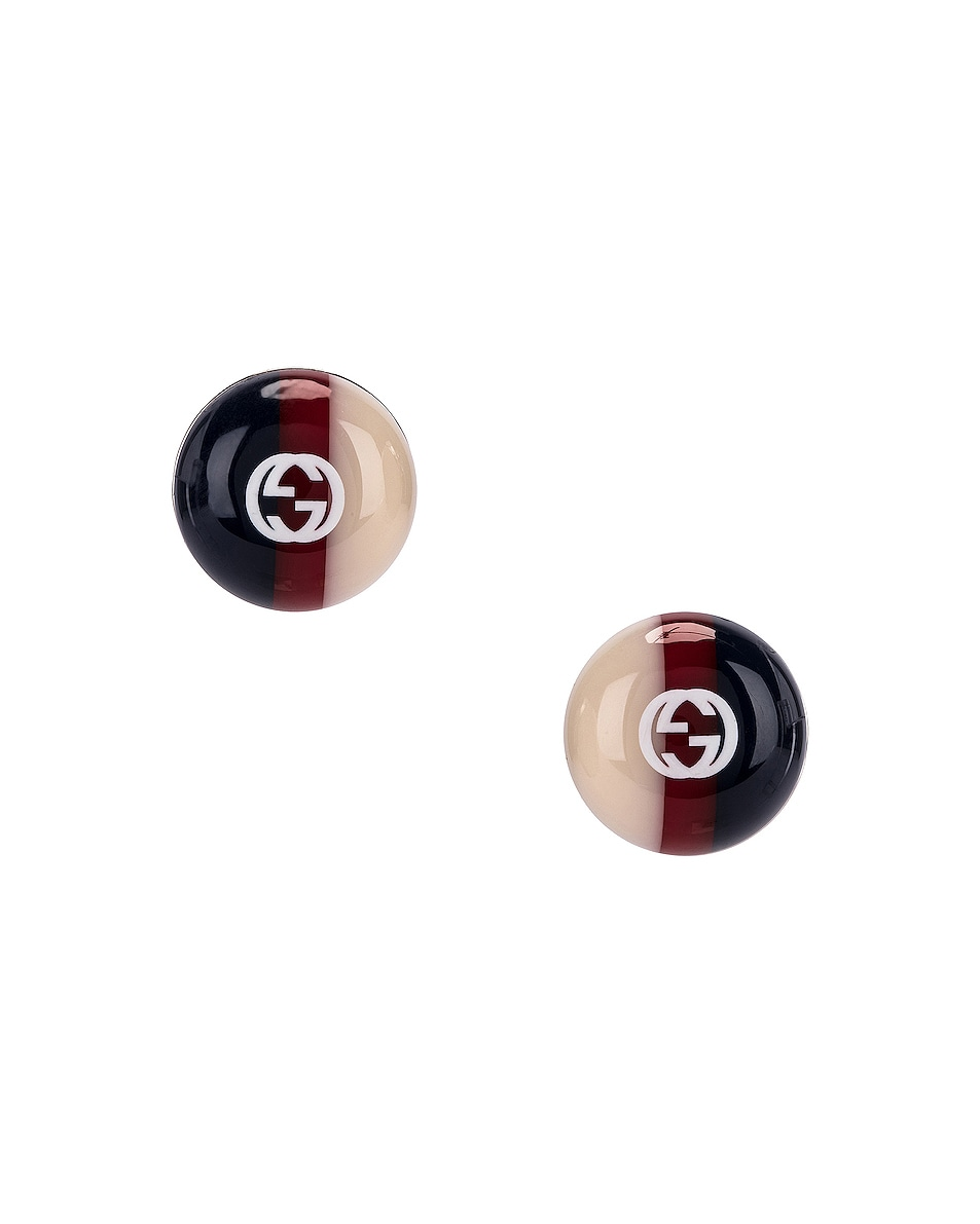 Image 1 of Gucci Web Stud Earrings in Red & Blue