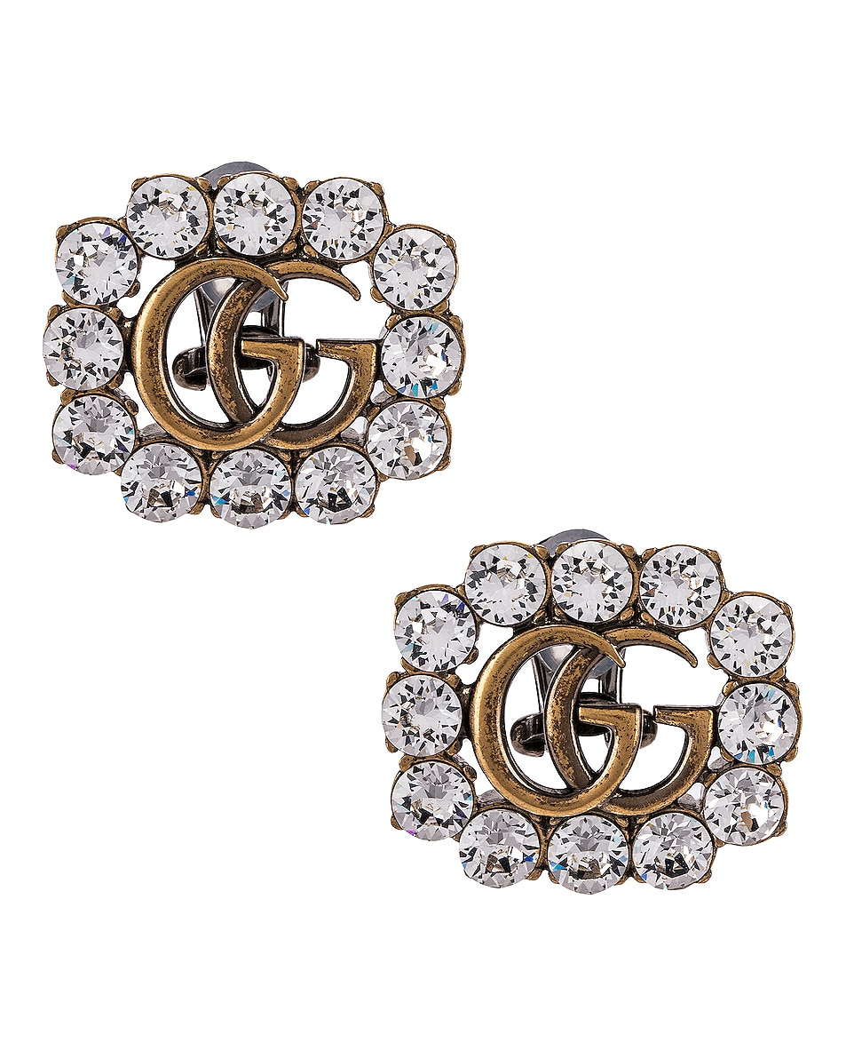 Image 1 of Gucci GG Marmont Earrings in Crystal