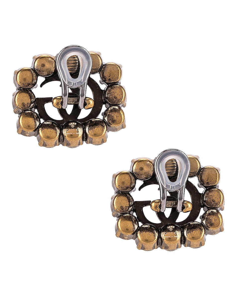 Image 4 of Gucci GG Marmont Earrings in Crystal