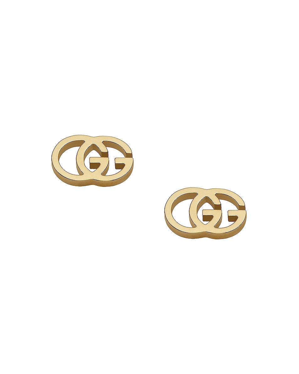 Image 1 of Gucci Running G Stud Earrings in 18KT Yellow Gold