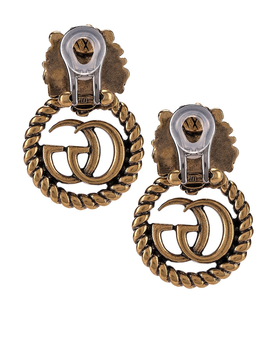 Image 4 of Gucci Lion Head Earrings in Gold