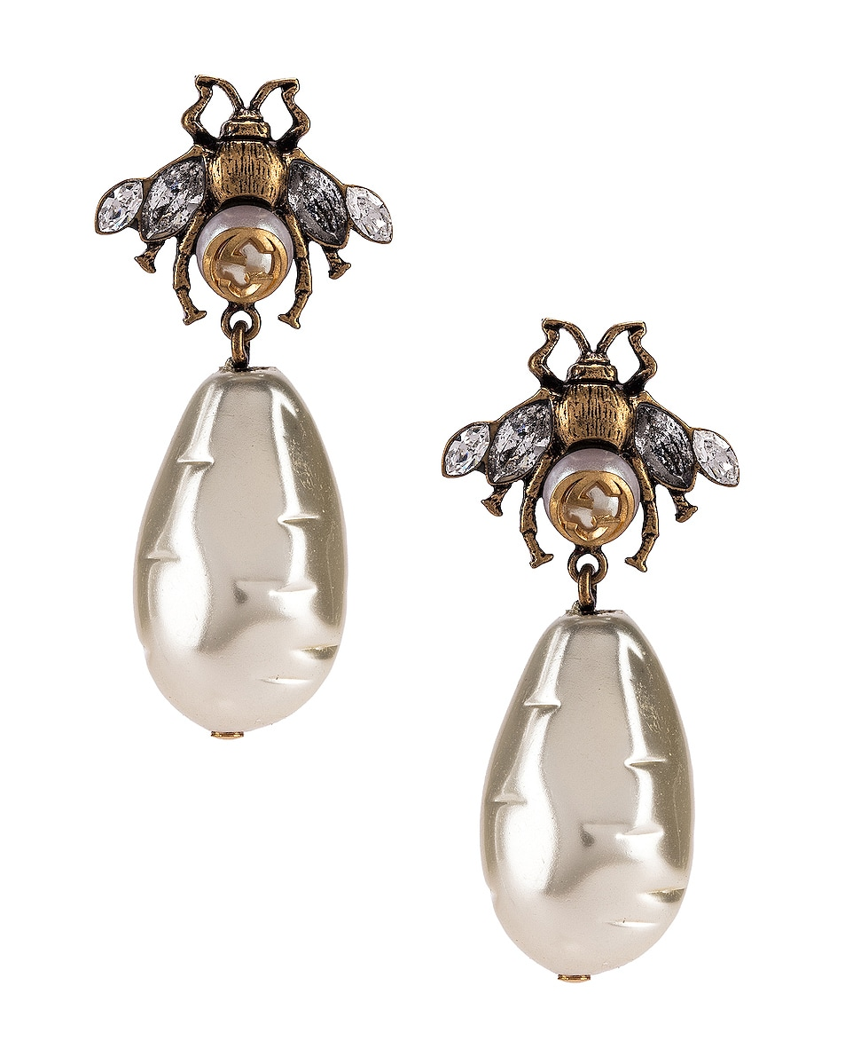 Image 1 of Gucci Bee Earrings in Gold