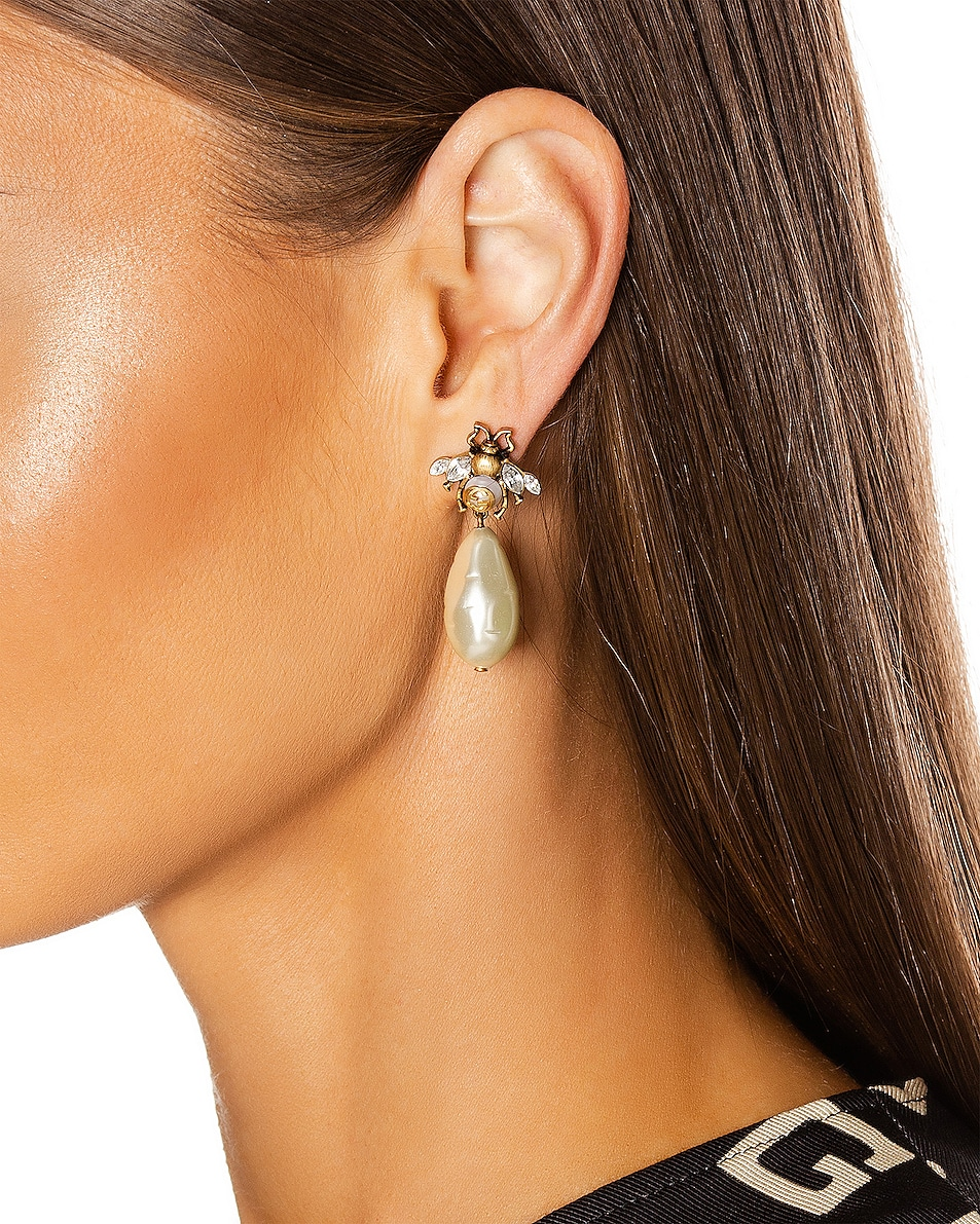 Image 2 of Gucci Bee Earrings in Gold