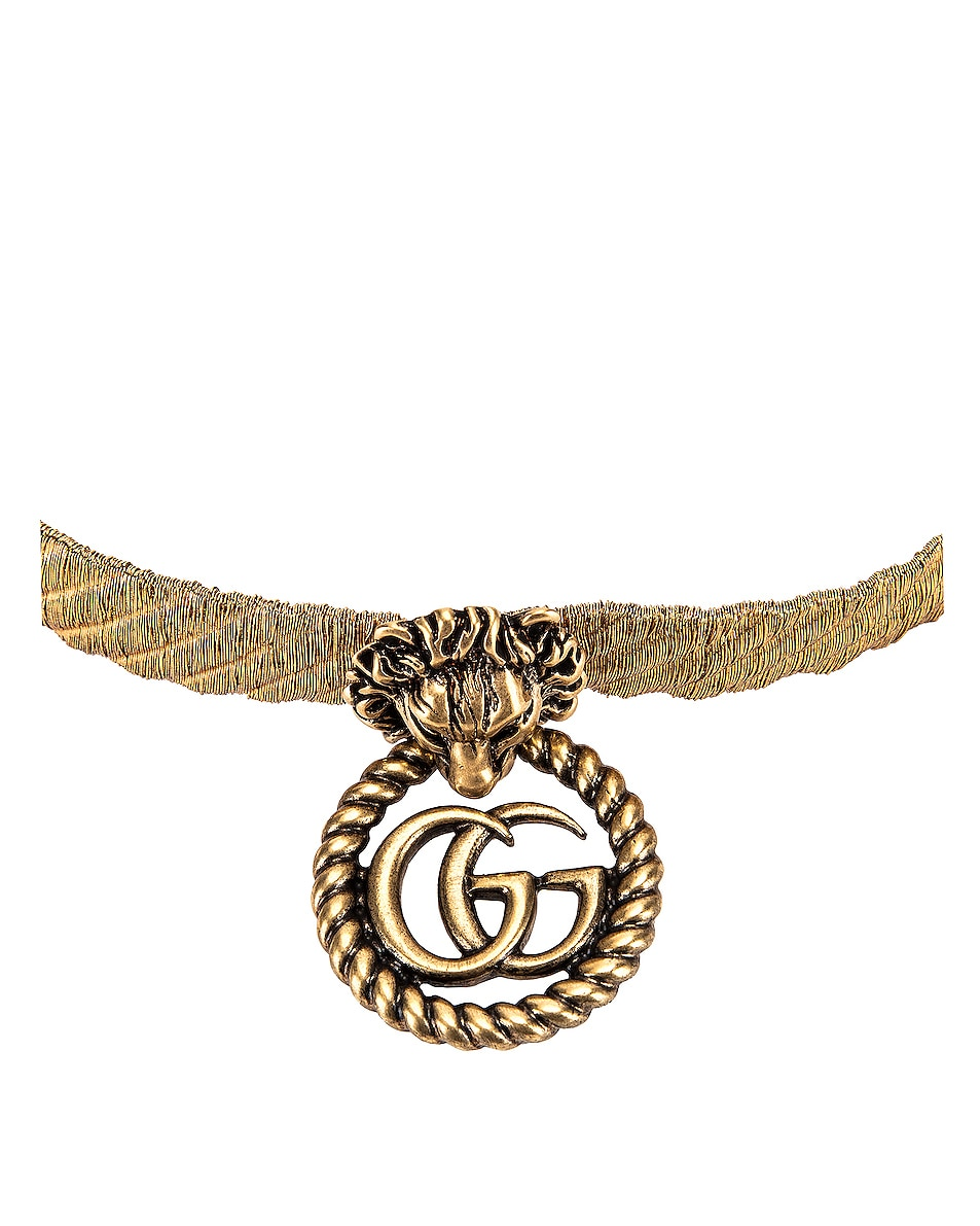 Image 3 of Gucci Lion Head Necklace in Gold