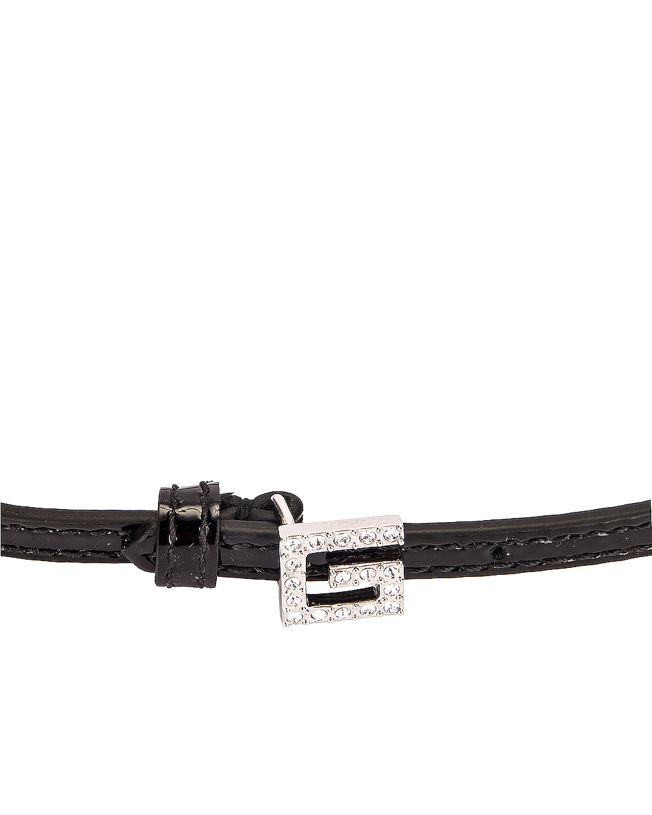 Image 3 of Gucci G Motif Necklace in Black & Crystals