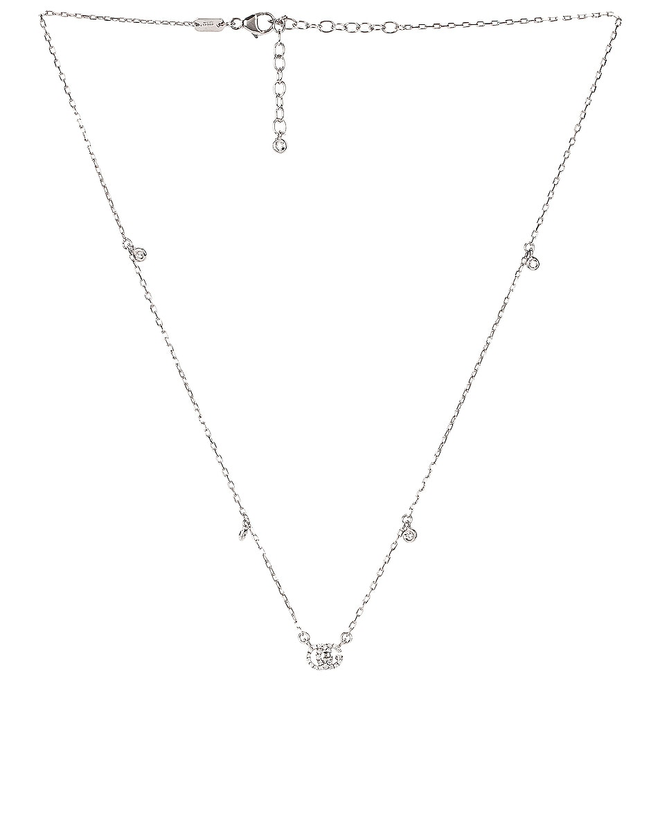Image 1 of Gucci GG Running Necklace in 18KT White Gold & Diamonds