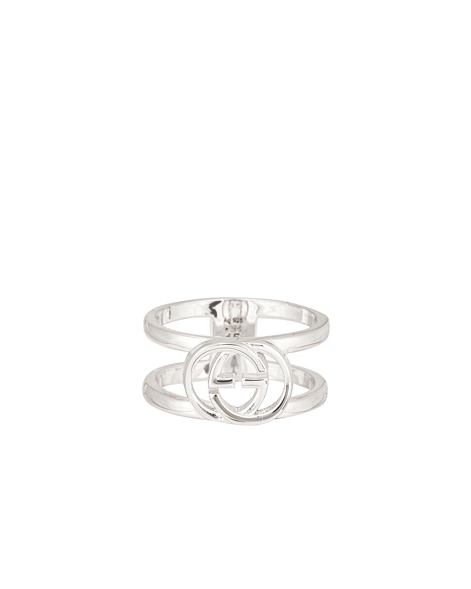 Image 1 of Gucci Interlocking G Ring in Sterling Silver