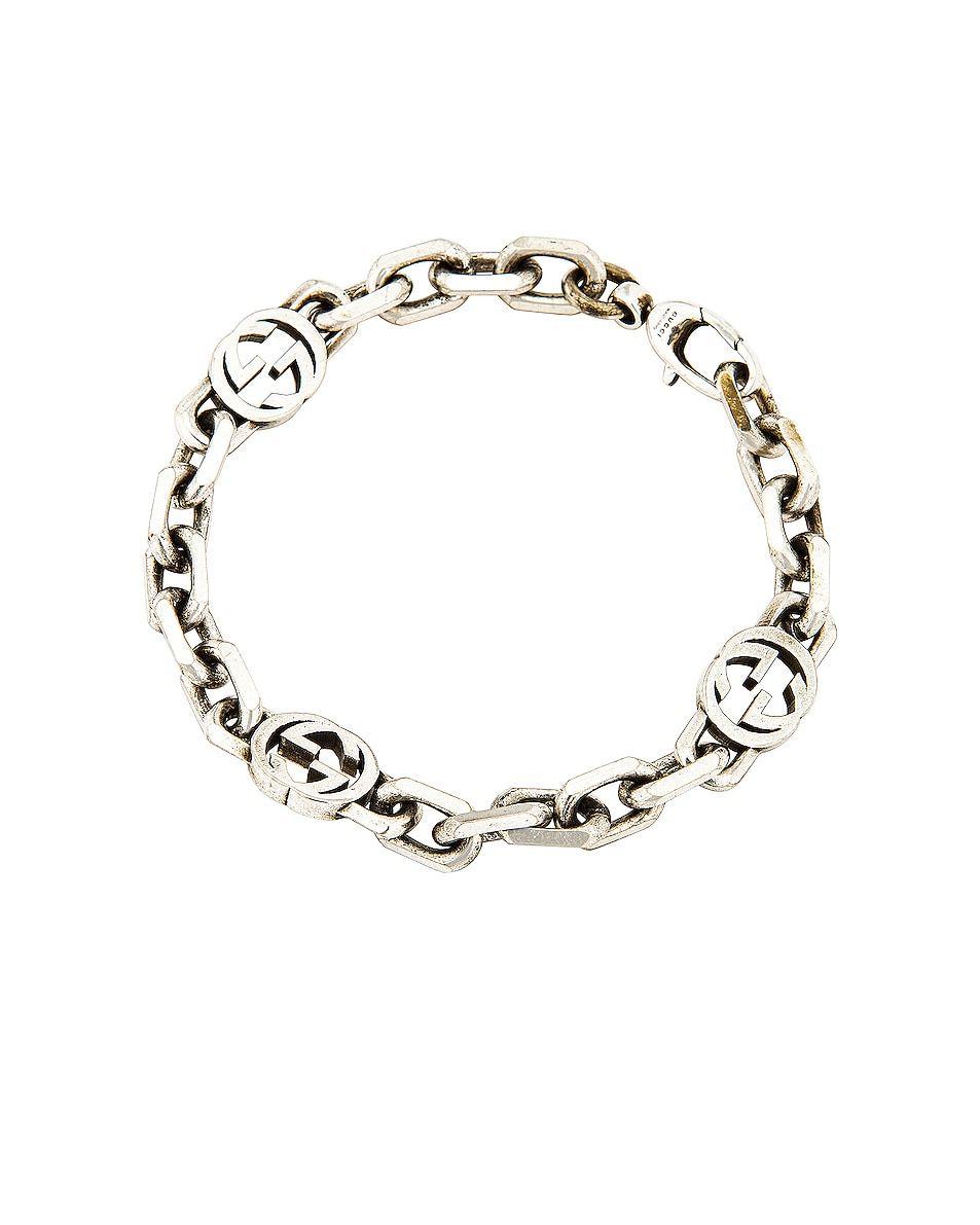 Image 1 of Gucci GG Bracelet in Silver