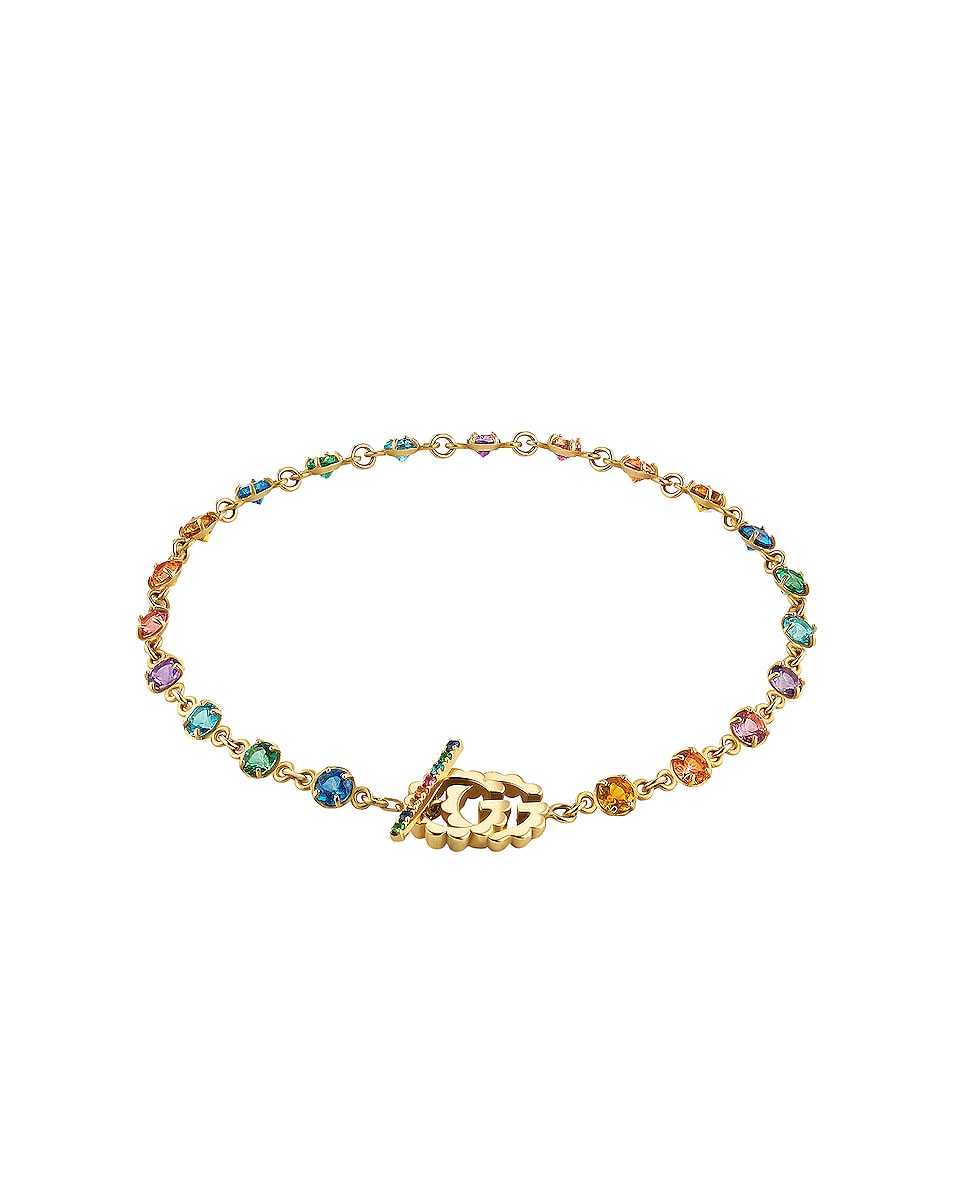Image 1 of Gucci GG Running Chain Bracelet in 18KT Yellow Gold & Multicolor