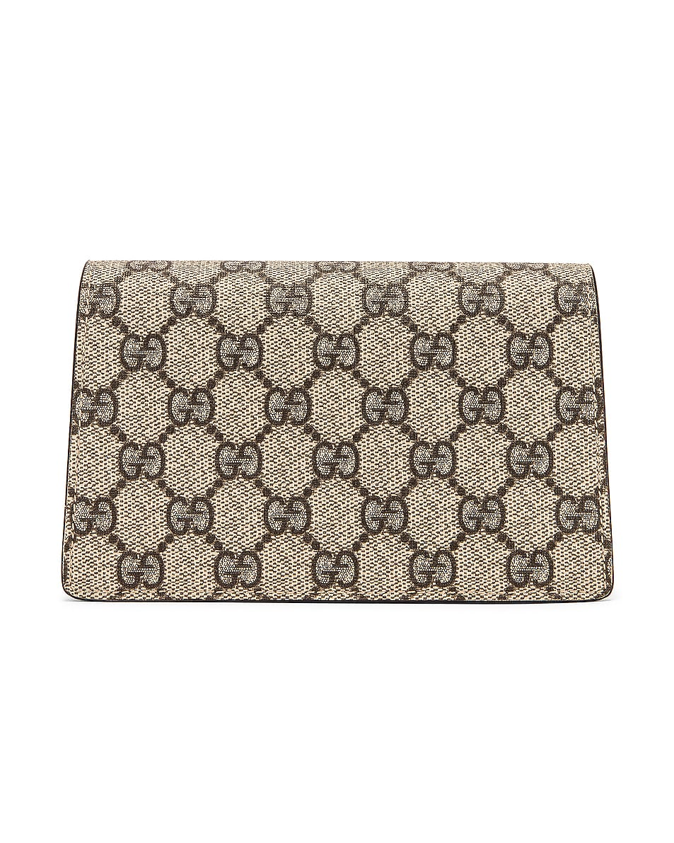 Image 3 of Gucci Super Mini Dionysus GG Chain Bag in Beige Ebony & Taupe