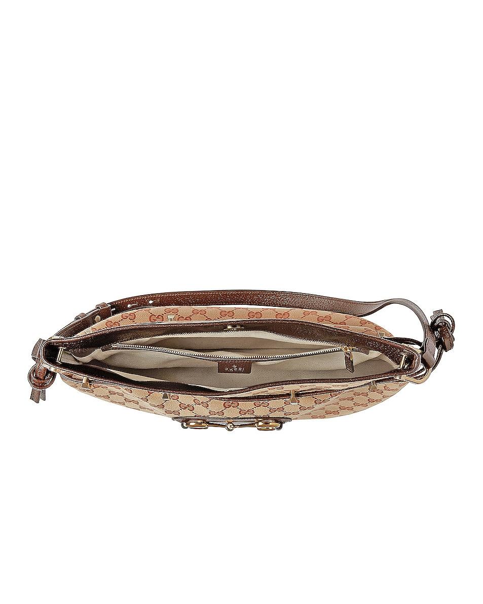 Image 5 of Gucci 1955 Horsebit Messenger Bag in Beige & Maroon