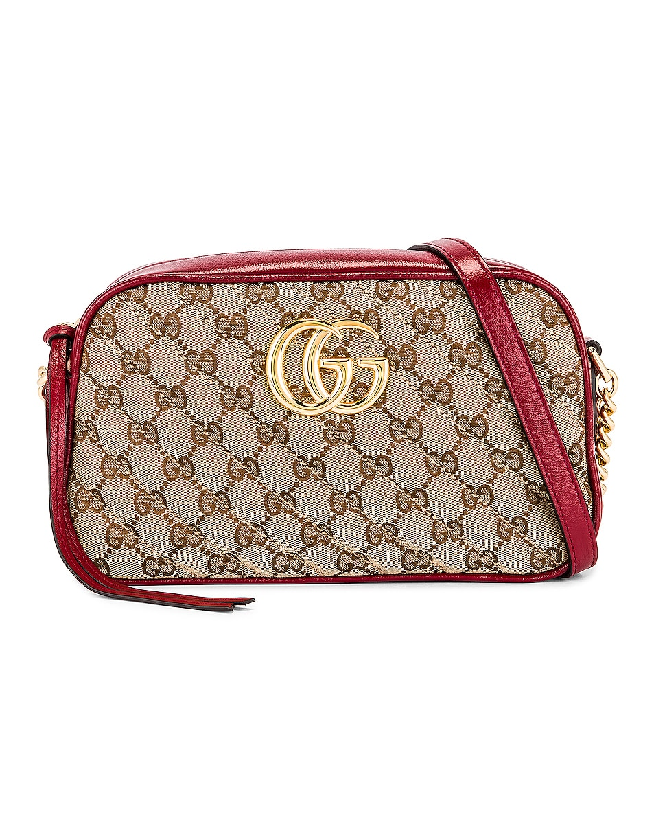Image 1 of Gucci Shoulder Bag in Beige Ebony & New Cherry Red