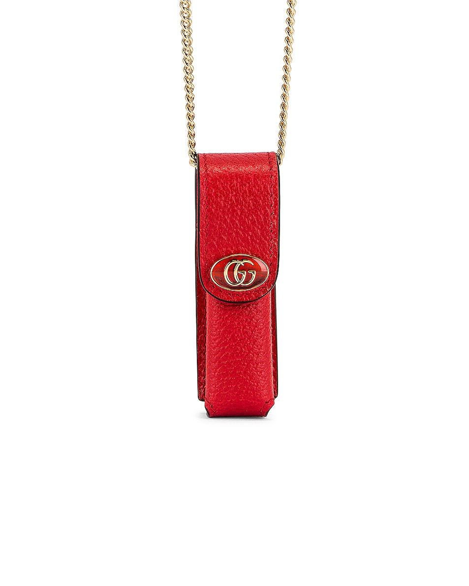 Image 1 of Gucci Lipstick Holder in Lobster Red