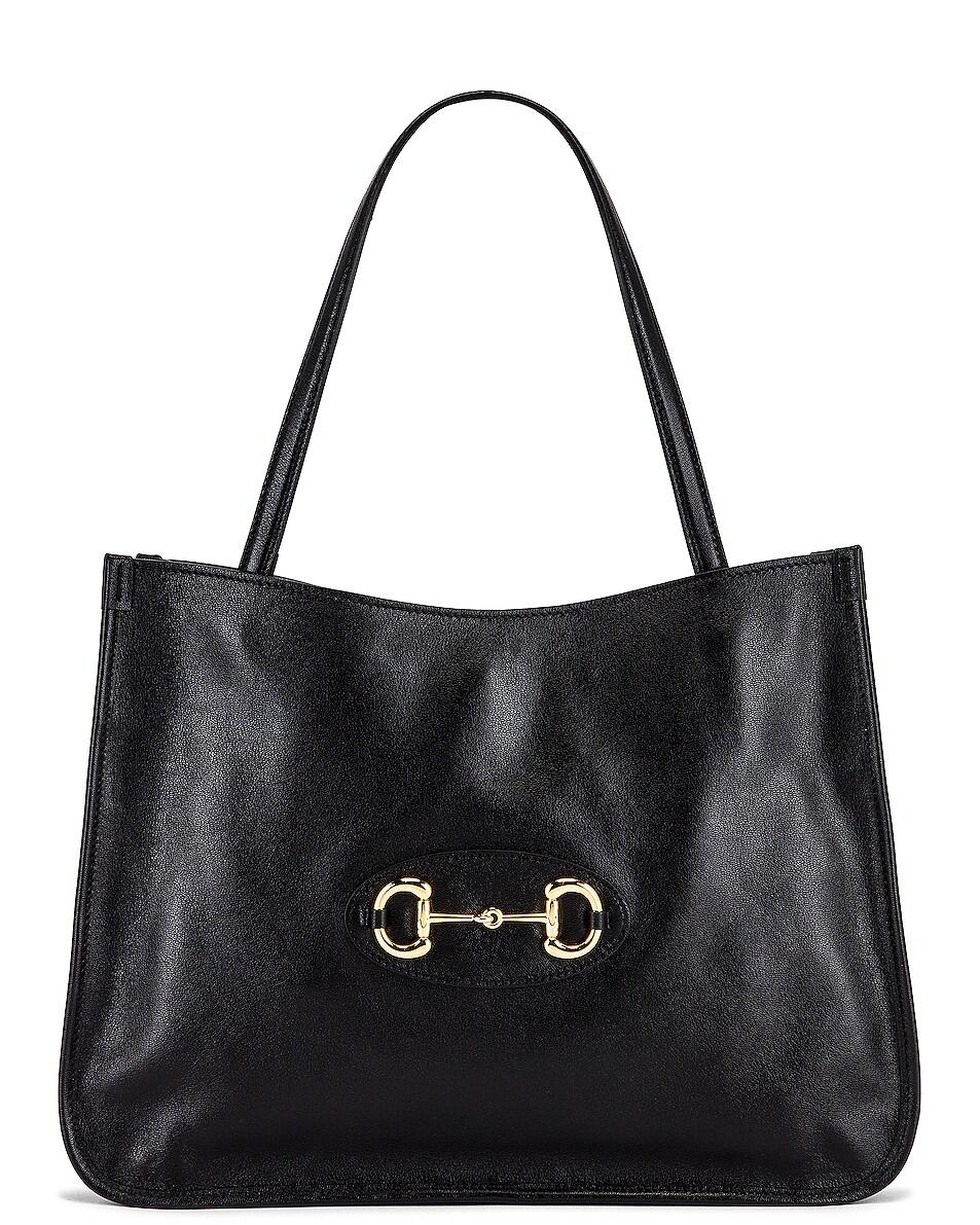 Image 1 of Gucci 1955 Horsebit Tote Bag in Black