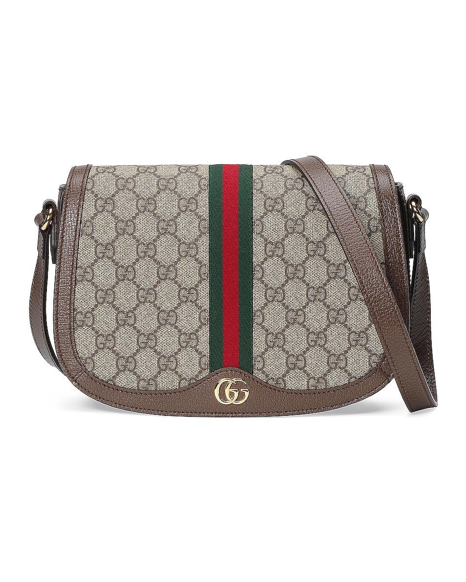 Image 1 of Gucci Ophidia GG Shoulder Bag in Beige Ebony