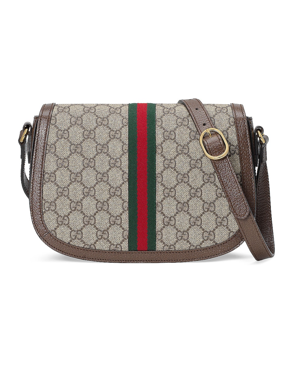 Image 3 of Gucci Ophidia GG Shoulder Bag in Beige Ebony