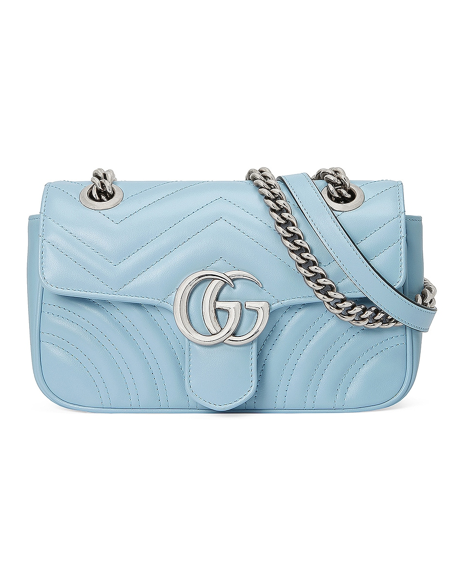 Image 1 of Gucci GG Marmont Bag in Porcelain Light Blue