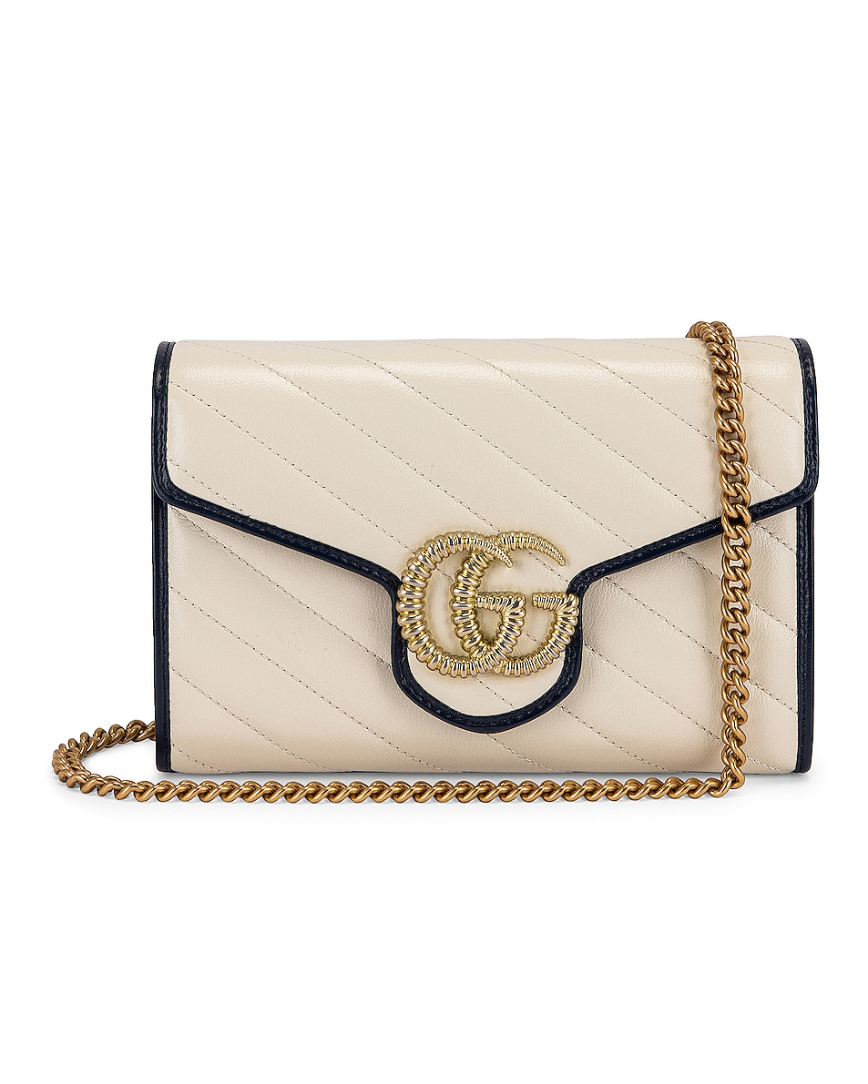 Image 1 of Gucci GG Shoulder Bag in Mystic White & Blue Agata